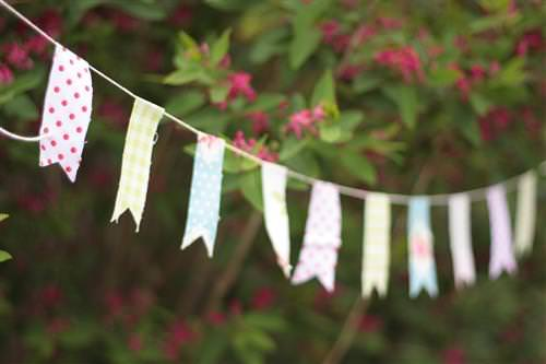 Mini Flag Garland DIY Tutorial UK Wedding Blog Whimsical Wonderland