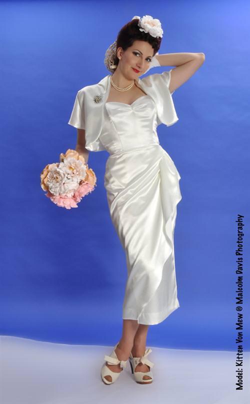 Wedding Dress 50s Sarong