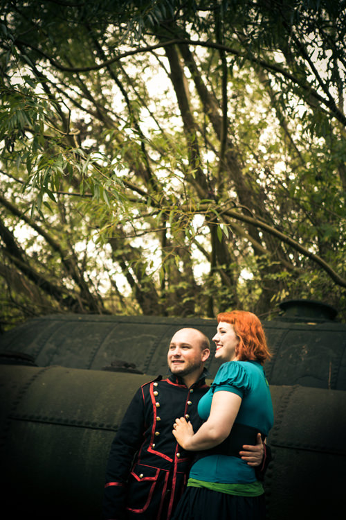 A Steam Punk Engagement ~ UK Wedding Blog ~ Whimsical Wonderland Weddings